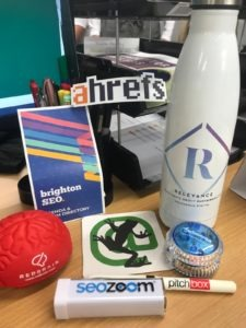 Freebies and goodies from BrightonSEO