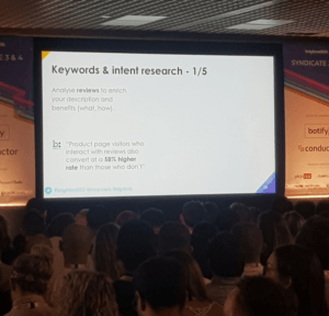 Keywords & Intent Research slide at BrightonSEO