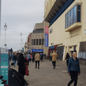 Queue outside BrightonSEO