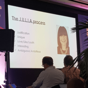 The J.U.L.I.A Process Slide at BrightonSEO