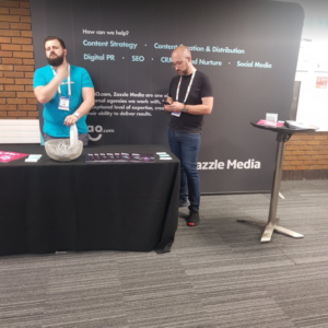Zazzle Media's Stall at BrightonSEO